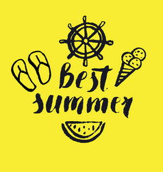 Best summer modern hand drawn lettering vector