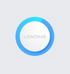 blue loading bar for web interfaces template vector image