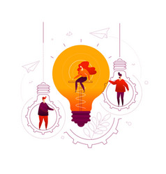 bright idea - flat design style colorful vector image