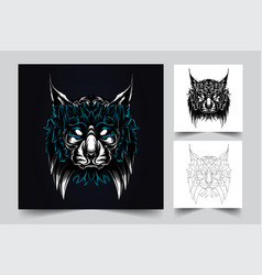 cat artwork vector image