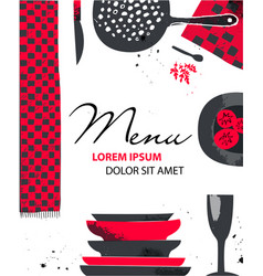 Catering brochure flyer design artistic vector