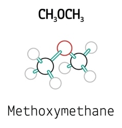 CH3OCH3 methoxymethane molecule vector