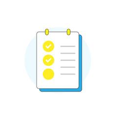 clipboard with checklist icon checklist icon vector image