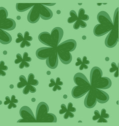 clover seamless pattern plant green pattern vector image
