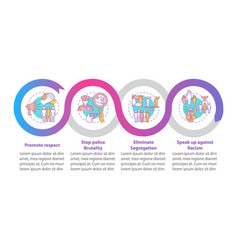 Confronting racism infographic template vector