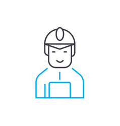 construction worker linear icon concept vector image