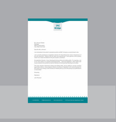 Creative blue and white letterhead vector