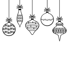 Decorated baubles vector