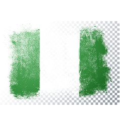 distressed nigeria flag grunge texture style vector image