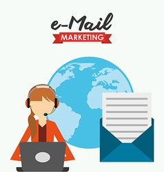 e-mail marketing design vector image