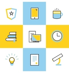 Education icons Scool or university vector
