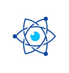 eye atom logo icon vector image