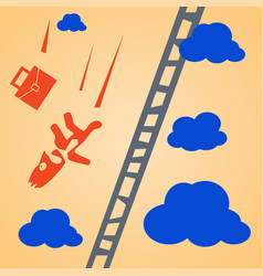 falling businessman vector image