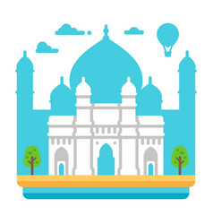 flat design gateway of india vector image