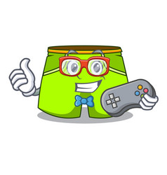 Gamer cartoon shorts style for the swimming vector