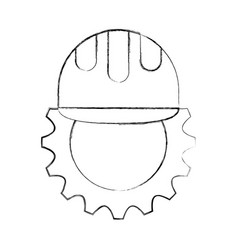 Gear machine with helmet vector