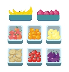 Grocery Store Assortment Healthy Nutrition vector