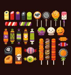 halloween sweets 3 vector image