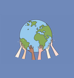 happy earth day and ecology concept vector image