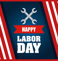 happy labor day poster celebration party national vector image