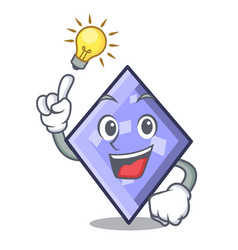 have an idea rhombus mascot cartoon style vector image