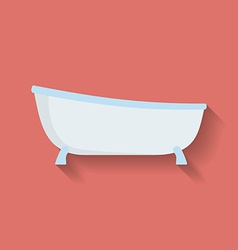 Icon of Bath Flat style vector
