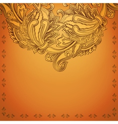 Indian henna background vector image
