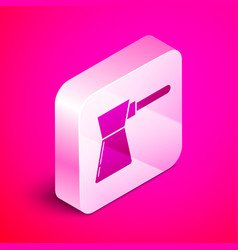 isometric coffee turk icon isolated on pink vector image