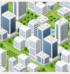 isometric urban architecture vector image
