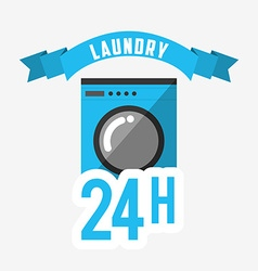 laundry service design vector image