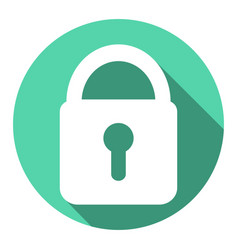 Lock icon with a long shadow vector
