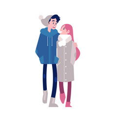 loving embracing couple of vector image