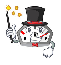 Magician gasoline indicator in the a mascot vector