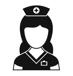 Medic nurse icon simple style vector