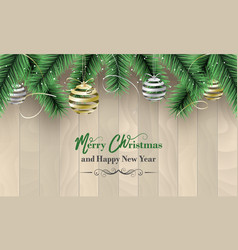 merry christmas and happy new year banner as a vector image