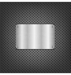 Metal Background With Plate And Bolts vector image