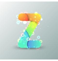 Modern Capital Letter Z vector image