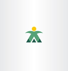 mountain man mountaineer icon logo vector image