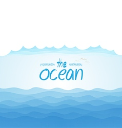 Nature background - blue ocean and blue cloudy sky vector image