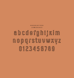 Original hollow sans serif font vector