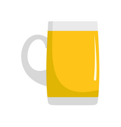 Pint of beer icon flat style vector