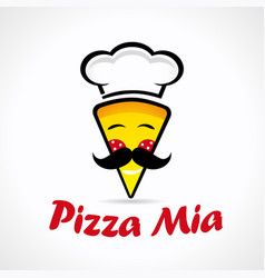 Pizza mia logo vector