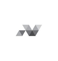 Polygon letter n logo template vector