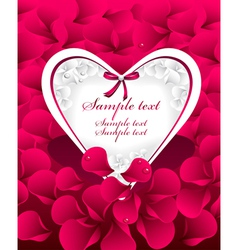 Post card or frames or banners with heart red p vector image vector image