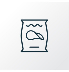 potato chips icon line symbol premium quality vector image