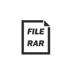 rar file icon flat vector image