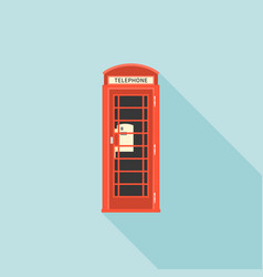 Red telephone box london vector