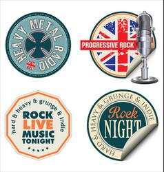 Rock music sticker vector