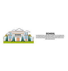 school education concept horizontal banner with vector image