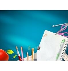 School office supplies EPS 10 vector image